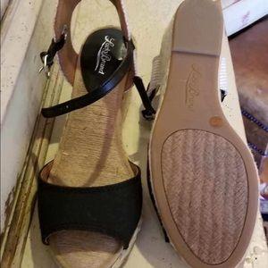 Lucky Brand Black Espadrille Wedge heel 9M